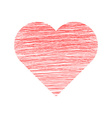 Valentine Day Hand Drawn Heart vector image vector image