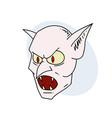 vampire head vector image vector image