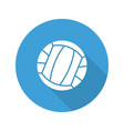 volleyball ball flat design long shadow glyph icon vector image