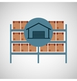 warehouse boxes concept icon vector image vector image
