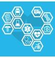 Medical healthcare service vector image