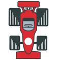 race car close up vector image