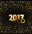 2017 celebration background with golden lettering vector image vector image
