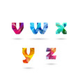 abstract colorful letters set vector image vector image