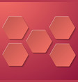 abstract creative image with five hexagons vector image
