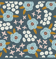 abstract floral seamless pattern hand drawn daisy vector image vector image