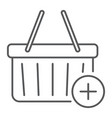 add to cart thin line icon e commerce vector image vector image
