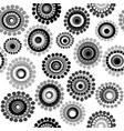 black and white doodle floral background vector image vector image