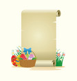 blank paper for easter theme concept design vector image vector image