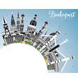 Budapest hungary city skyline with gray buildings