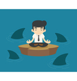 Businessman in a risky situation vector image