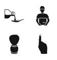 cafe restaurant hygiene and other web icon in vector image vector image