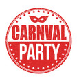 carnival party stamp vector image vector image