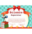 Certificate for science subject vector image vector image