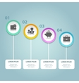 circle infographic Template for diagram vector image vector image