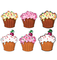 collection funny cake vector image vector image
