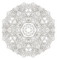 coloring page with elegant lacery zentanle mandala vector image