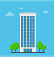 company building in flat style vector image vector image