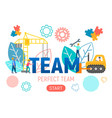 concept teamwork vector image vector image