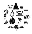 costa rica icons set simple ctyle vector image