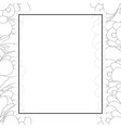 crocus flower outline banner card border vector image vector image