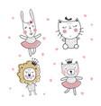 cute animals set vector image vector image