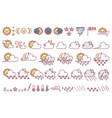 cute weather icons set vector image