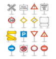 danger road signs set vector image vector image