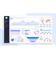 dashboard great design for any site purposes vector image vector image