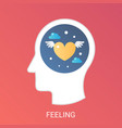 feeling concept modern gradient flat style vector image vector image