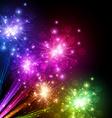 Festive color firework background vector image vector image