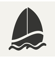 Flat in black and white mobile application sailing vector image vector image