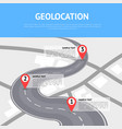 geolocation concept with pin pointers vector image
