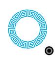 greek round frame pattern vector image vector image