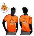 Grill t-shirt design vector image vector image