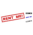grunge rent me exclamation textured rectangle vector image vector image