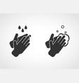 hand washing with soap sanitation vector image