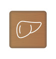 human liver icon an internal organ human vector image vector image