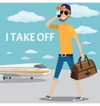 I take off vector image vector image