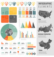 infographic elements set with maps of the vector image vector image