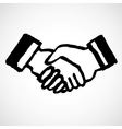 Ink Draw Handshake vector image