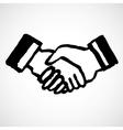 Ink Draw Handshake vector image vector image