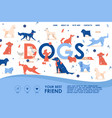 landing page template dog best friend vector image