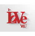 Lettering I LOVE YOU vector image