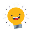 light bulb icon kawaii vector image vector image