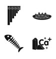 lipwort canape and other web icon in black style vector image vector image