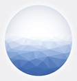 Low poly circle blue abstract vector image vector image