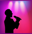 man singing silhouette