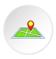 Map and GPS sign icon cartoon style vector image vector image