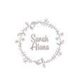 Minimalist logotype sarah alona with leaf element